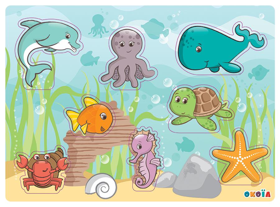 illustrateur freelance puzzle animaux de la mer