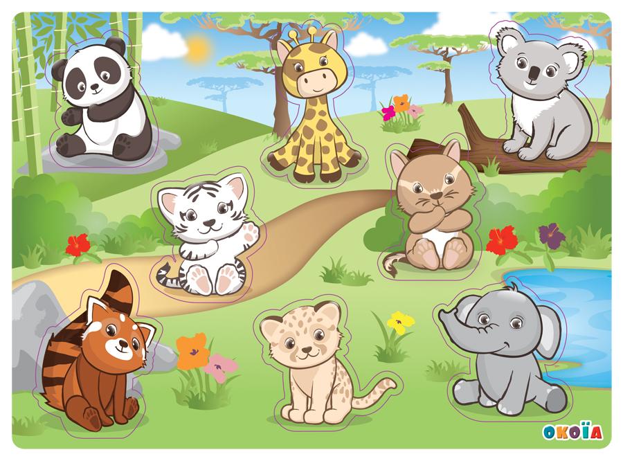 illustrateur freelance puzzle animaux de la savane