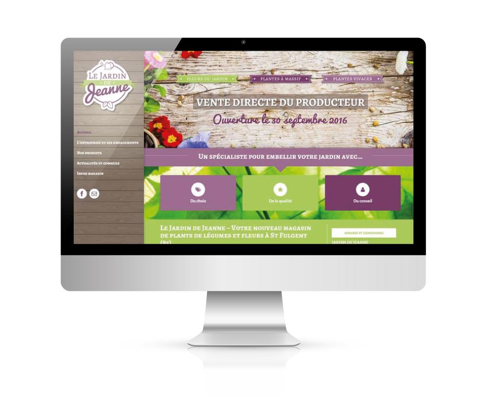 Création de site internet - Le Jardin de Jeanne